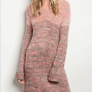 Dresses & Skirts - Pink Knit Sweater Dress